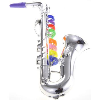 K050030 saksofon Instrument muzyczny rekwizyty muzyka dla dzieci narzędzie do gry symulacja dla dzieci dla dzieci prezent dla dzieci złoty srebrny kolor tanie i dobre opinie Saxophone Spada dostroić b (c) Bakelitu Mosiądz Złoty lakier 400 * 140 * 80mm 15 7 * 5 5 * 3 1in 136g 4 8ounce Mini Saxophone