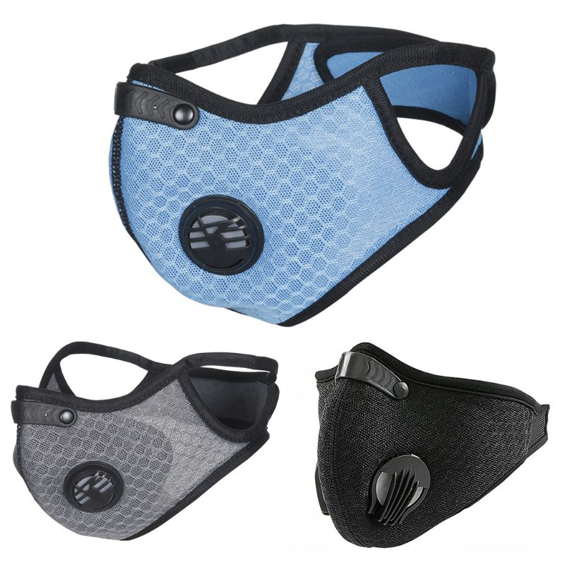 Dustproof Filter Mouth Mask Mesh Breathing Half Face Cover For Cycling Mountain Bike Outdoor Sport Anti Pollution Respirator