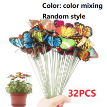 7cm simulation butterfly insert gardening decoration flower arrangement forest PVC waterproof out