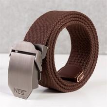 Unisex tactical belt Top quality 4 mm thick 3.8 cm wide casual canvas belt Outdoor Alloy Automatic buckle Men Belt 110-140cm