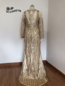 Image 5 - Formal gown for dinne party dresses abiti cerimonia vestido sereia special occasion gown long sleeve bling bling evening dresses