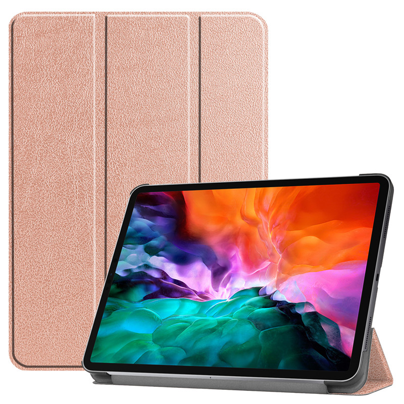 Rose Gold Green For iPad Pro 12 9 2021 Case PU Leather Folding Stand Hard PC Back Smart Cover