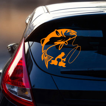 CS-1808# funny vinyl car sticker fishing reflective waterproof multiple sizes car decal for auto car stickers styling on bumper 3 sizes outdoor sports go fishing white perch car sticker window fish tank decal vinyl tape h8100