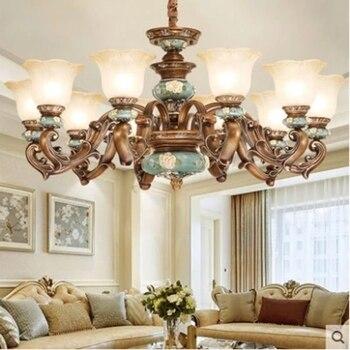 Nowoczesny żyrandol z żywicy Lustre LED Moderne nowoczesne żyrandole chiny oświetlenie domu lampa wewnętrzna w Wiszące lampki od Lampy i oświetlenie na
