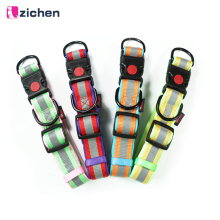 Zichen Pet Dog Collar Padded Nylon Reflective Soft Big Small Medium Dogs Quick Release for Necklace Pets Dropshipping