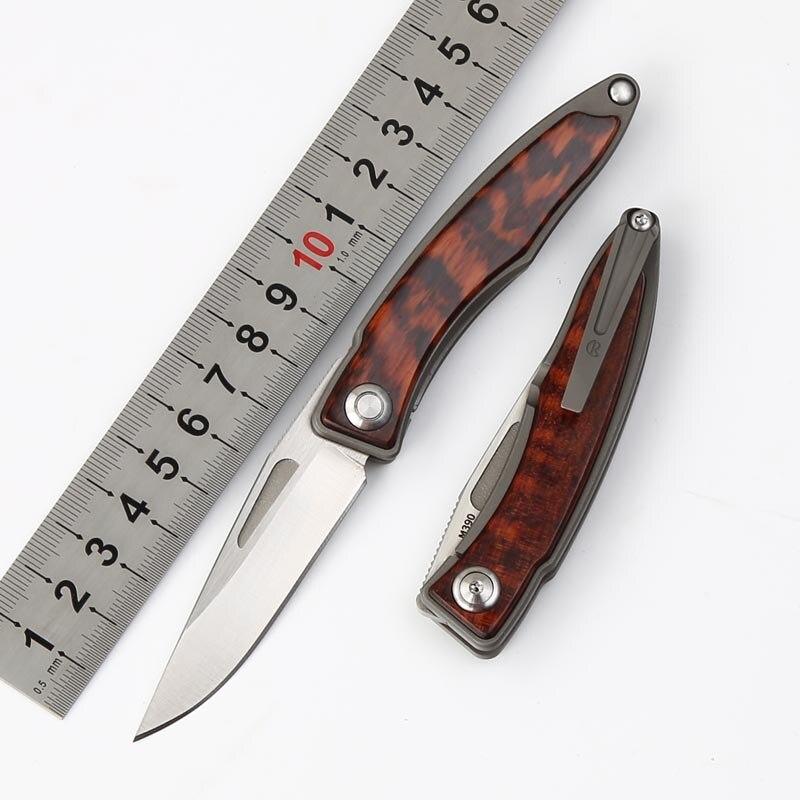 Новый MIKER CR Mnandi M390 лезвие змея дерево титановая ручка складной нож медная шайба охотничий лагерь Карманный выживания EDC инструменты ножи Ножи      АлиЭкспресс