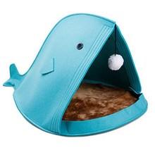 Beds Pet-House Cat-Mat Sleeping-Bag Dog-Kennel Foldable Warm Soft Felt for Shark-Shape