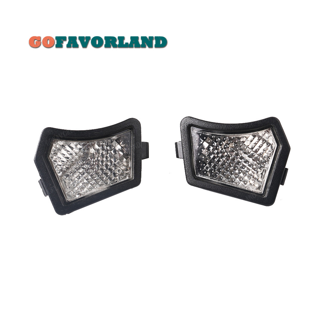 Pair Front Door Mirror Puddle Light courtesy Light Lamp Lens L R 31217838 For <font><b>Volvo</b></font> S40 S60 S80 V50 V70 C30 <font><b>XC70</b></font> XC90 2005 image