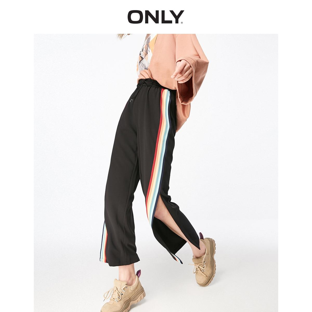 ONLY Women's Loose Fit Split Wide-leg Pants | 119150521