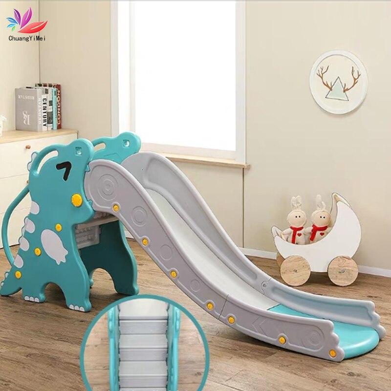 Baby Slides And Basketball Box Dinosaur Style Children Indoor Home Kindergarten Baby Playground Children Outdoor Indoor Kids Toy(China)