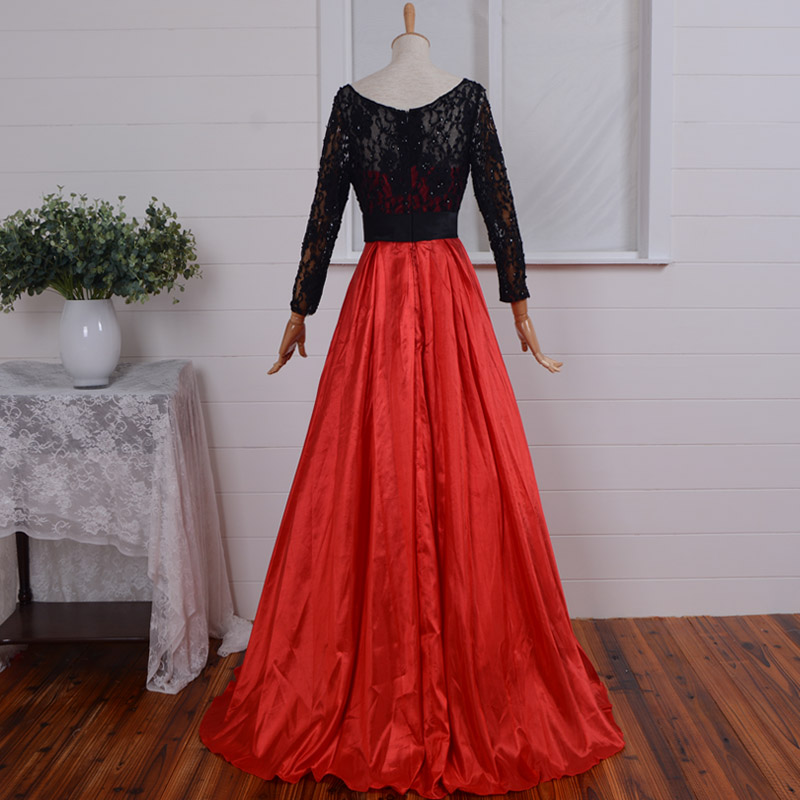 vestido de festa party prom beading sexy robe de soiree a-line 2018 sleeves back lace evening Formal mother of the bride dresses