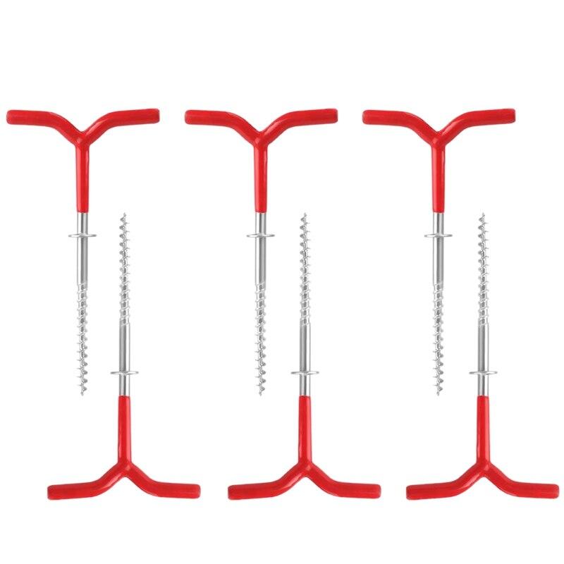 6 упаковок на открытом воздухе палатки колышки для палатки, сверхлегкие крюки колышки для палатки навесы колышки для палатки пляжные палатк...