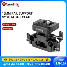 SmallRig Universal 15mm Rail Support System Grundplatte Für Sony/Panasonic/Canon/Fujifilm/Nikon Kamera Schnell release Platte 2272