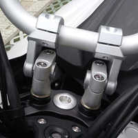 KEMiMOTO, elevador de manillar para motocicleta, barras de 22mm/28mm, elevador de abrazadera de 2 pulgadas, pivotante para Kawasaki para BMW, abrazaderas de montaje Yamaha