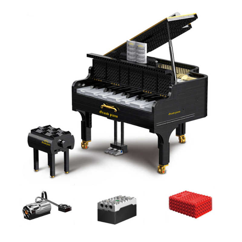 2436pcs The Dreamer Piano Model APP Control Building Block Creator Idea Series Playable Grand Piano Bricks giocattoli per bambini regali