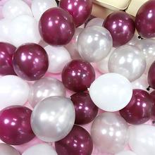 Gold and Black Latex Balloon Pearly Ballon Bordeaux Valentines Day Baloons Decoration Birthday Party Photography Props Decor