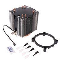 1 قطعة شحم حراري + 4 أنابيب الحرارة 130 واط الأحمر وحدة المعالجة المركزية برودة 3 دبوس مروحة المبرد ل إنتل LGA2011 AMD AM2 754|المراوح والتبريد|   -