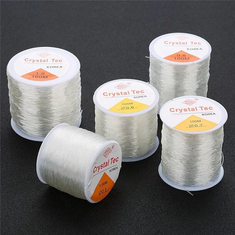 100M Plastic Crystal DIY Beading Stretch Cords Elastic Line Jewelry Making Supply Wire String jeweleri thread String Thread