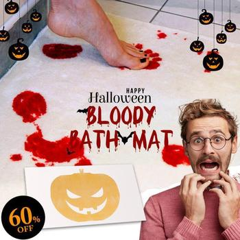 Halloween Flash Sale-Bloody Bath Mat Bloody Bath Mat Bathmat Scare Your Friends Bloody Footprint Bath Bathroom Mat Non-slip Rug