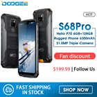 Водонепроницаемый телефон DOOGEE S68 Pro Helio P70, Восьмиядерный, 6 ГБ, 128 ГБ, Беспроводная зарядка NFC, 6300 мАч, 12V2A, 5,9 дюйма, FHD +