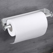 Self Adhesive & Wall Mount Paper Towel Holder & Dispenser,Kitchen Tissue Towel Holder Stand Under Cabinet-Silver(China)