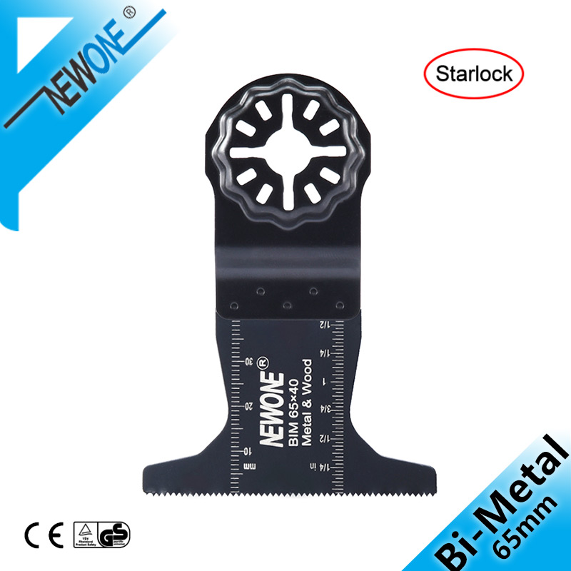 NEWONE Starlock 65mm Bi-Metal E-Cut Multi Tool Renovator Oscillating Saw Blades Accessories In BIM 2-5/8 Inch Saw Blade