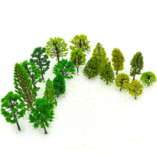 30PCS 3-10cm Model Tree Toys ABS Plastic Miniature Sandtable Plants For Diorama Architecture Beautiful Scenery Making