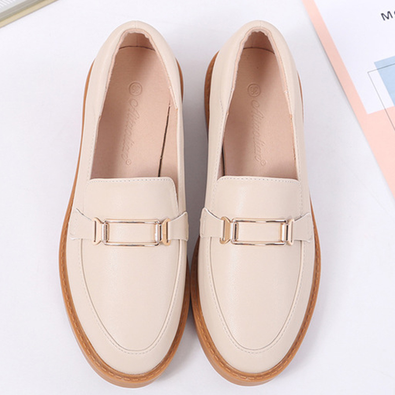 Women Shoes 2020 New European American Fashion Retro Small Leather Shoes Pumps Comfortable Slip-on Light-mouthed Single Shoes