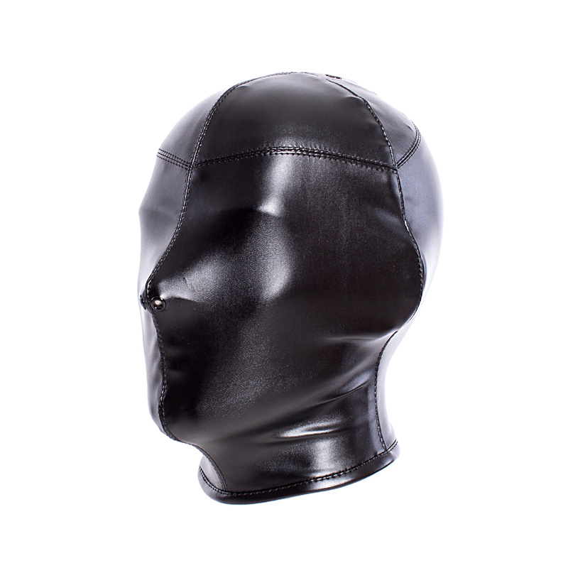 Adult Soft Pu Leather Lace Up Headgear Training Head Hood Couple Slave Bondage Fetish Leather Mask Punish The Shackles Sex Toy