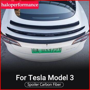 Model3 ModelS ModelX Car Trunk Wing Spoiler For Tesla Model 3 Accessories Spoiler Real Carbon Fiber For Telsa Model S X Three