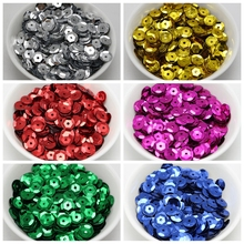 3000 CUP Round loose sequins Paillettes 8mm sewing Wedding craft Colour Pick