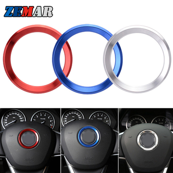 Car Styling Decoration Ring Steering Wheel Trim Circle Sticker For BMW X1 E84 F48 X3 E83 F25 X4 F26 X5 E53 E70 F15 X6 E71 F16 M image
