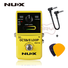 NUX Octave Loop Looper Pedal with -1 Octave Effect Infinite Layers Bass-Line True Bypass Guitar Effect Pedal+Free Connector&Pick nux octave loop looper guitar effect pedal with 1 octave effect infinite layers with bass line true bypass guitar pedal effect