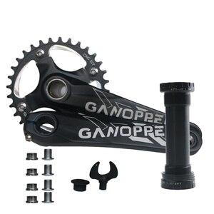 Image 5 - 175 Fatbike שומן אופני כננת 100mm BB 104BCD 9S 10S 11S 2*10S crankset Chainwheel 32/34/36/38T 104mm BCD אחת מהירות Chainset