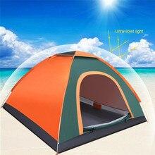 Автоматические палатки для 3-4 человек, автоматические всплывающие палатки, семейная палатка, Пляжная палатка, водонепроницаемая походная палатка, водонепроницаемая большая семейная палатка
