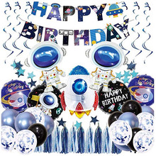 2019 Giant Rocket Astronaut Foil Balloons Baby Boy Super Hero Favor Toys Happy Birthday Party Decorations Kids Outer Space Balls
