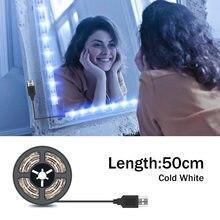Usb 5 В макияж зеркальный светильник светодиодный Диммируемый