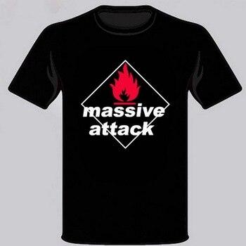 Nueva camiseta negra para hombre Massive Attack Hip Hop Group talla S M L XL 2XL 3XL