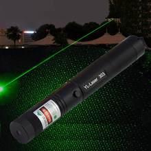 Laser ponteiro caneta laser 303 mira ponteiro foco ajustável lazer 532nm verde laser vista laser caneta cabeça para a caça