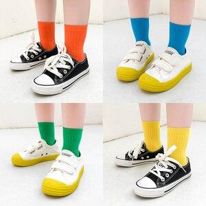 Image 5 - Wysokiej jakości bawełniane skarpetki dla dziewczynek kolorowe dziecięce długie skarpetki dla niemowląt dla dziewczynek niemowlęce skarpetki dla chłopca cukierki kolor 1 8y