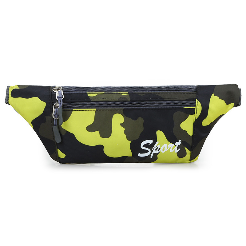 Camouflage Sports Mobile Phone Waist Bag Running Multi-functional Men Fashion Outdoor Waterproof Women's Casual Wear-Resistant O