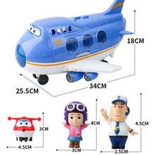 Super Wings Juguetes Original Genuine Jimbo Jett Deformation Rescue Aircraft PVC Action Figure Kids Toys for Children Gifts 2A45