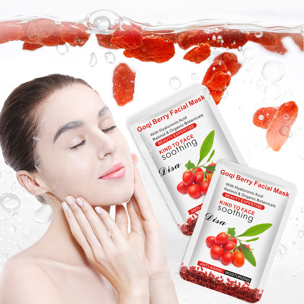 Goqi Berry Facial Mask Anti-wrinkle Whitening Moisturizing With Hyaluronic Acid Retinol & Organic Anti-aging Remove Spots