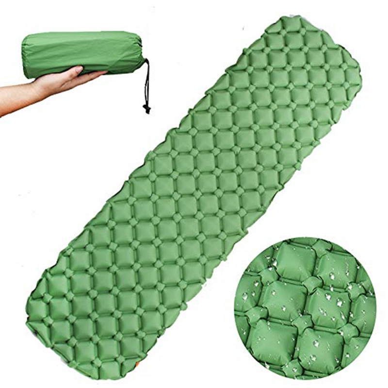 Camping Sleeping Pad-Ultralight Backpacking Air Mattress W/Compact-Sleeping Mat For Hiking Traveling & Outdoor Activities
