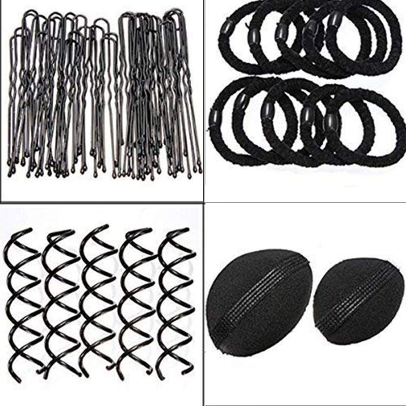 Купить с кэшбэком 65pc Hair Styling Accessories Kit Hair Bun Maker Hair Accessories for Women Girl