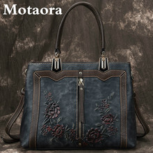 MOTAORA frauen Tasche Retro Echtem Leder Luxus Handtaschen Für Frauen 2021 Neue Handgemachte Umhängetasche Große Kapazität Taschen Weibliche