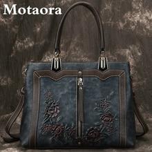 MOTAORA Women's Bag Retro Genuine Leather Luxury Handbags For Women 2021 New Handmade Crossbody Bag Large Capacity Bags Female