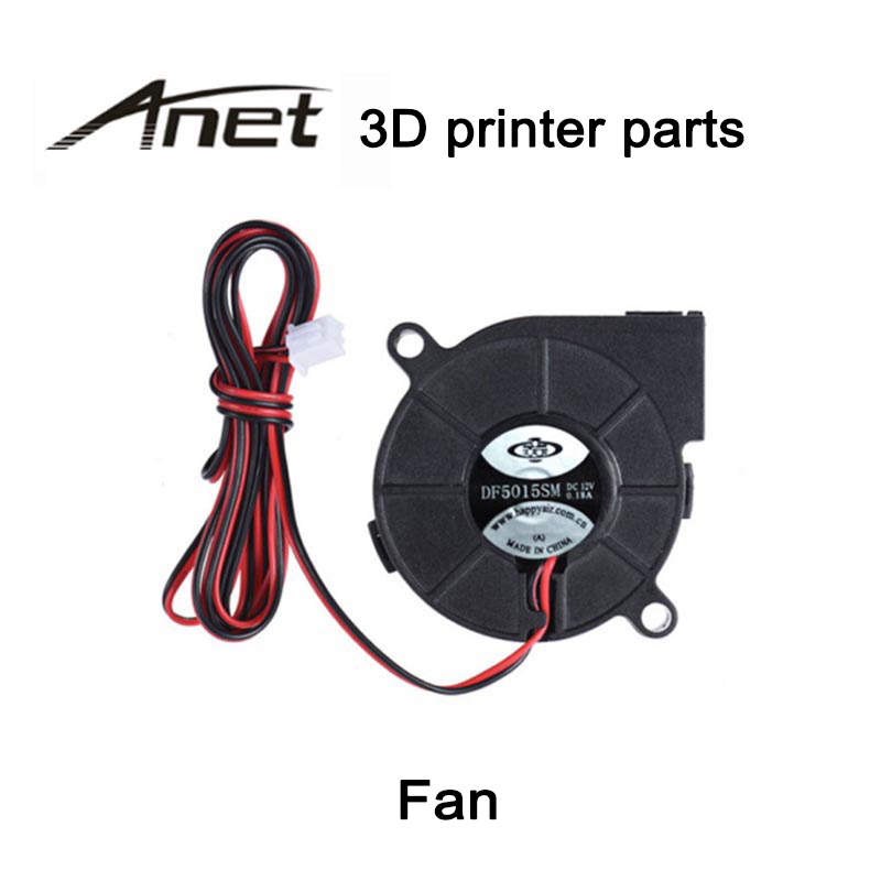 ILS 8 Pieces 24V 0.15A 5015 Sleeve Bearing Brushless Turbo Cooling Fan with 2Pin XH2.54 Wire for 3D Printer