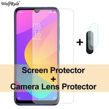 2 ชิ้นฟิล์มกันรอยสำหรับ Xiaomi Mi A3 กระจก 9 A2 Lite กระจกนิรภัยฟิล์มป้องกันโทรศัพท์สำหรับ Xiaomi R edmi 8A 7 หมายเหตุ 8 P RO 8 ครั้ง