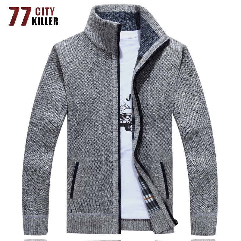 Sweater Men 2020 New Autumn Winter SweaterCoats Male Thick Men Sweater Jackets Casual Zipper Knitwear Cardigan Jacket Size M-3XL